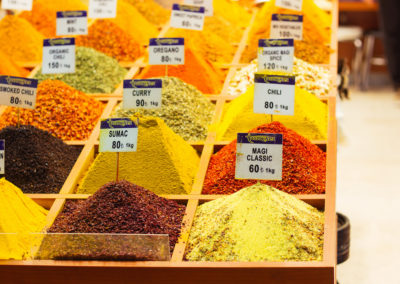 Spices in the Grand Bazaar-Turkey