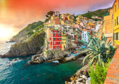 Riomaggiore village on the Cinque Terre coast of Italy,Europe-Tuscany and Florence