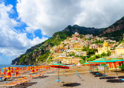 Positano on Amalfi coast, Campania, Naples italy
