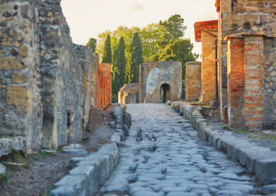 Ancient ruins in Pompeii, Italy-Naples italy