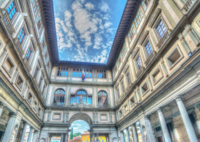 Uffizi gallery in Florence and Tuscany italy