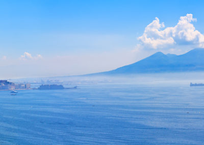 Mount Vesuvius and Naples panorama Italy