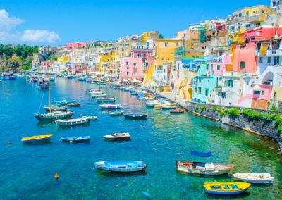 italian island procida  napoli.-Naples italy