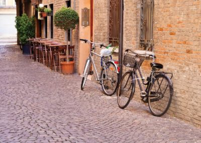 Cobbled street Italy