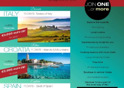 3 AMAZING Small group Tours EUROPE May & June 2020